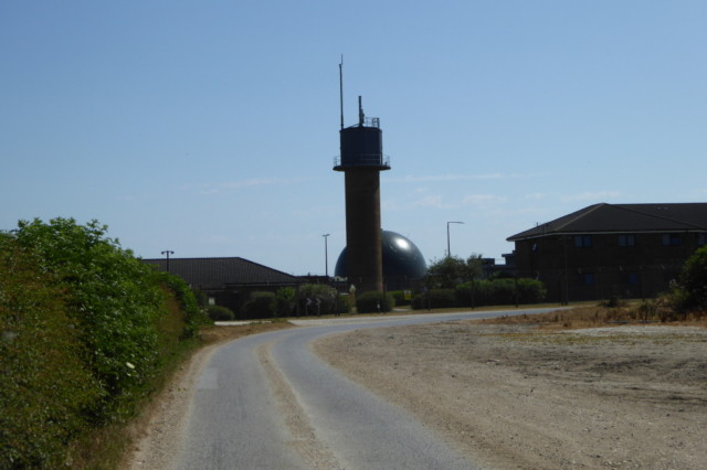 Control tower and dome at RAF Staxton Wold