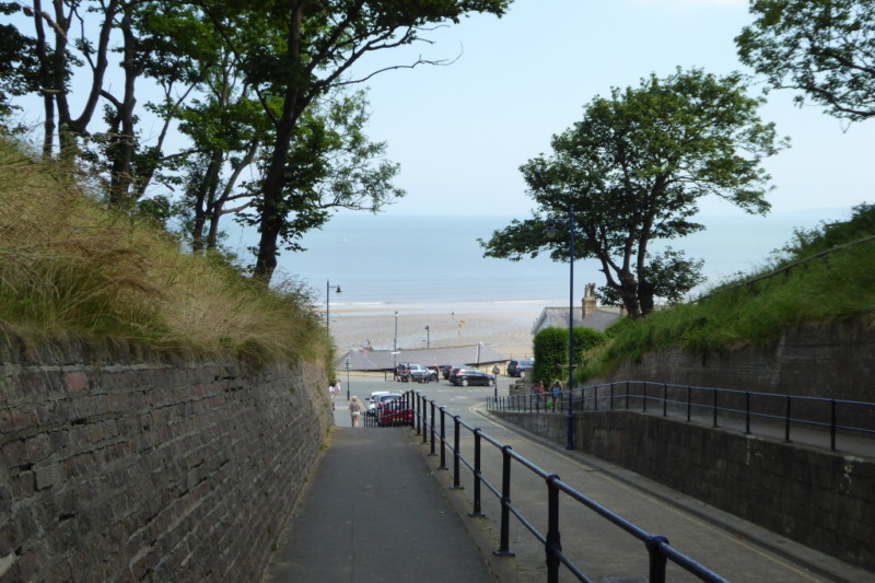 The road to Filey seafront