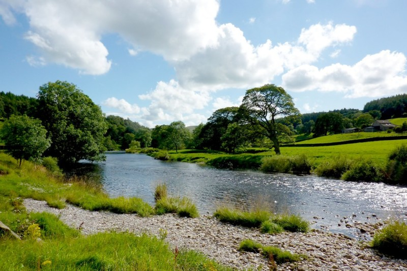 The River Wharf, on the Dales Way near Drebley