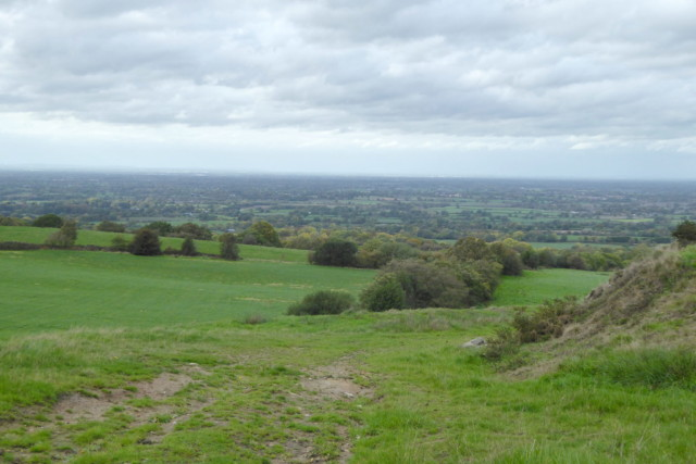 The view into Cheshire from the Cheshire's Close viewpoint