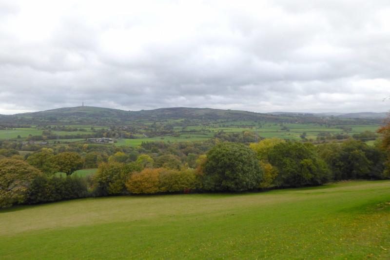 View of the Cheshire hills from the Gritstone Trail