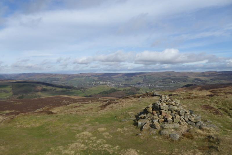 A cairn on Eyam Moor