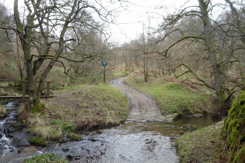 A path that runs through a stream