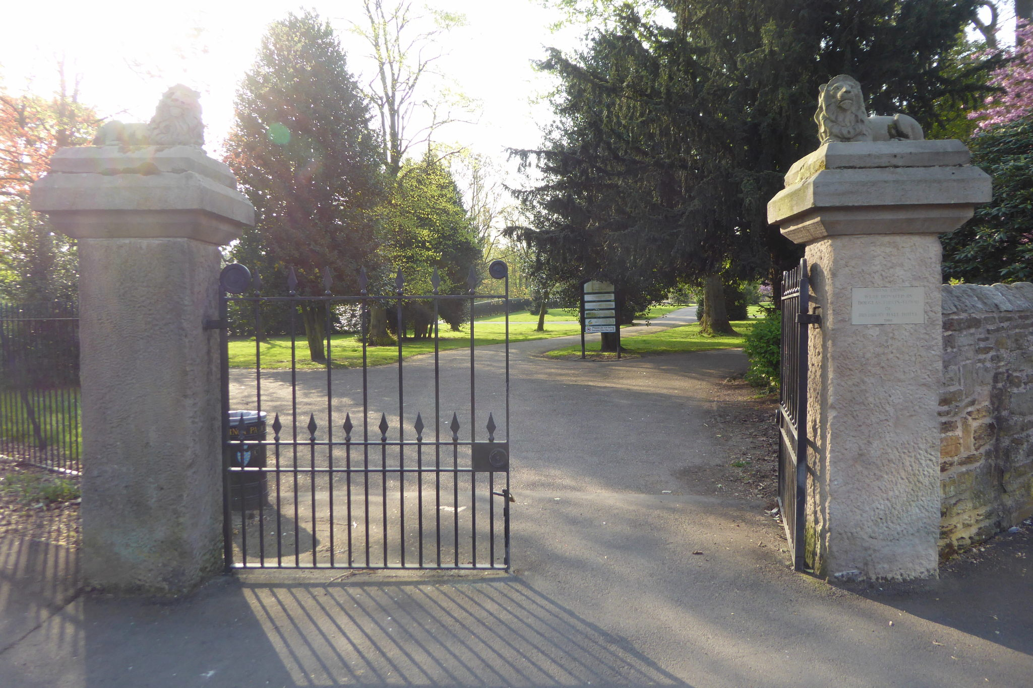 The entrance gates to Vernon Park