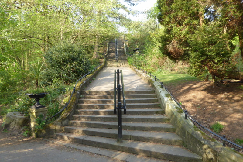 Path up the hill in Vernon Park