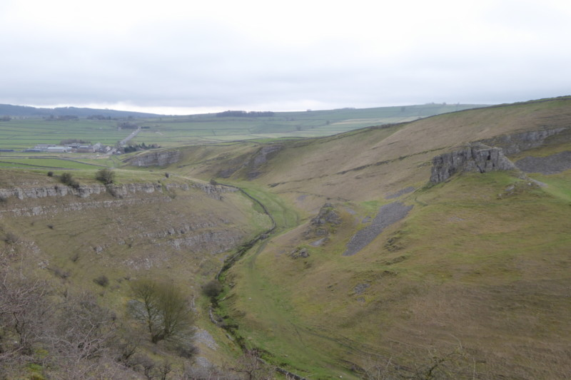 Cressbrook Dale, with Peter's Stone on the White to Dark