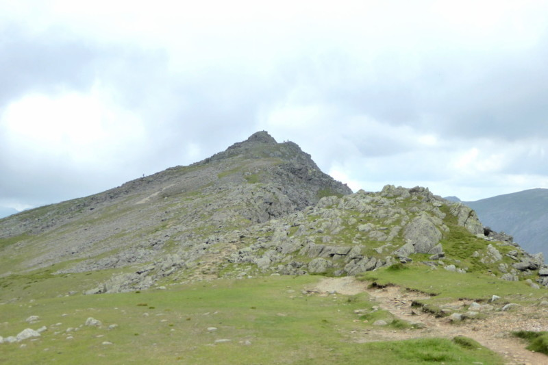 The summit of Dow Crag in the distance