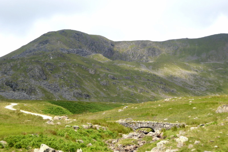 Walna Scar Road, with Dow Crag in the background
