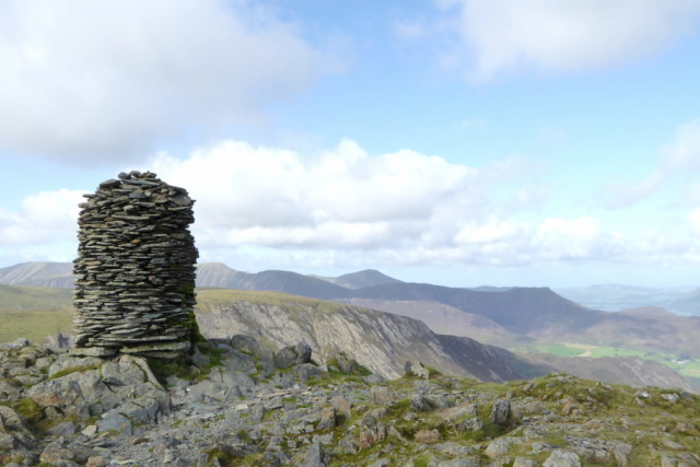An extremely large cairn on Dale Head