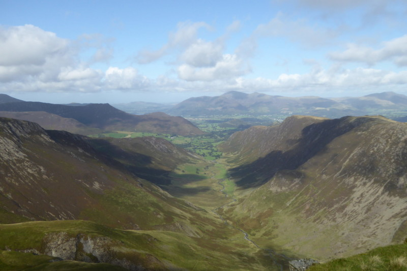 The view of the Newlands Valley from the summit of Dale Head