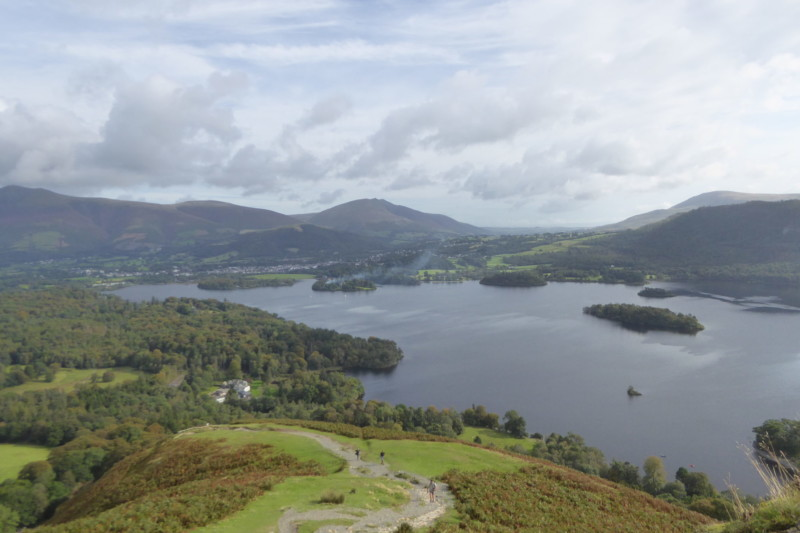 Looking towards Keswick and beyond from Catbells