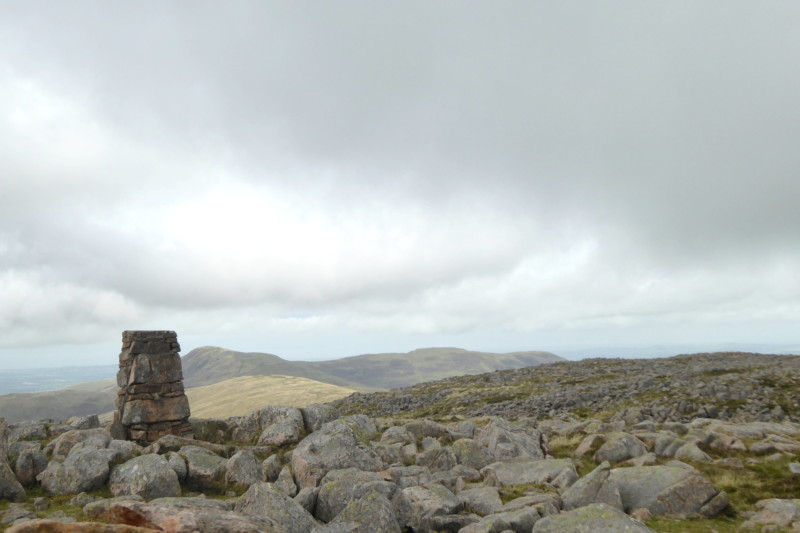 Trig point at the top of Great Bourne