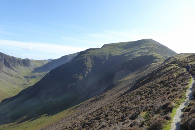 The summit of Hindscarth in the distance