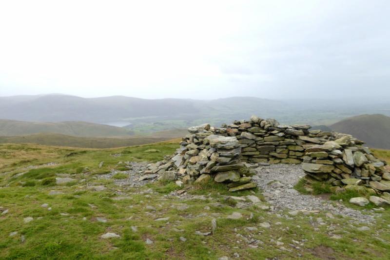 Stone shelter at Blake Fell