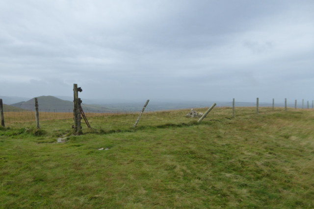 Fence posts at the summit of Burnbank Fell