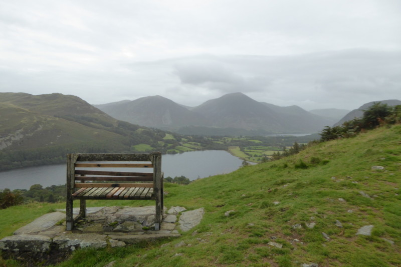 A bench with a view of Crummock Water