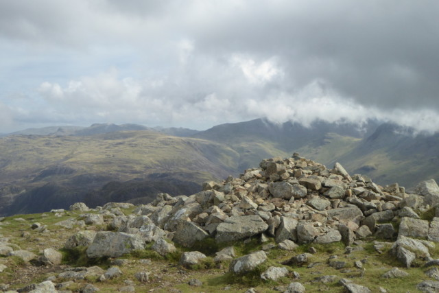 The summit cairn of High Crag