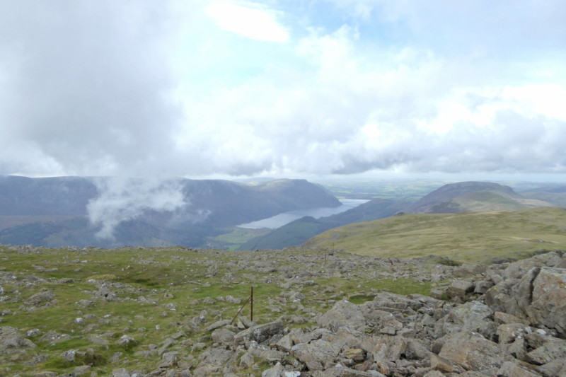 Ennerdale and some clouds, seen from High Stile