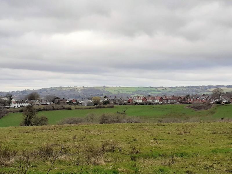 The view across fields near Linnet Clough Scout Camp