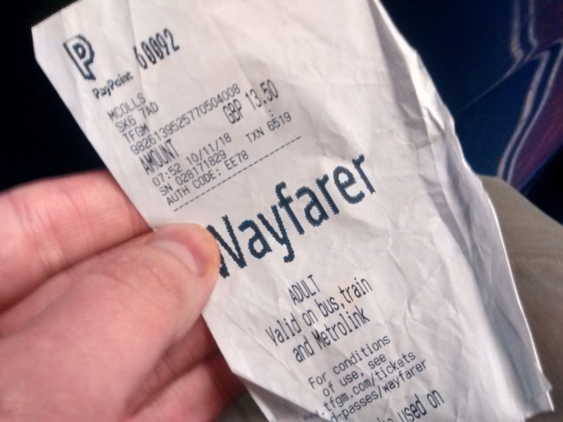 Wayfarer bus ticker